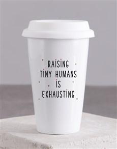 gifts: Personalised Tiny Humans Ceramic Travel Mug!