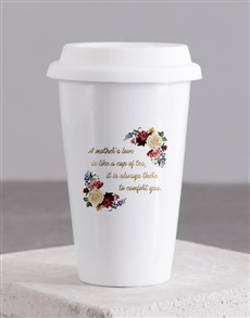 gifts: Personalised Love Of Mother Ceramic Travel Mug!