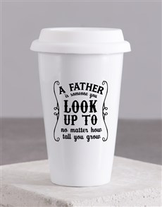 gifts: Personalised A Father Ceramic Travel Mug!