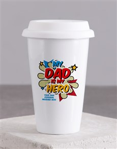 gifts: Personalised Hero Dad Ceramic Travel Mug!