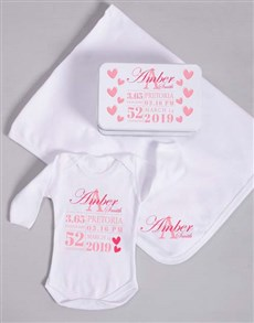 gifts: Personalised Baby Girl Birth Gift!