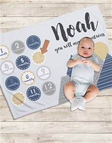 gifts: Personalised Move Mountains Milestone Blanket!