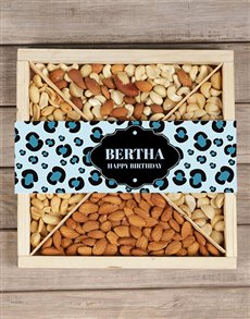 gifts: Personalised Blue Leopard Nut Tray!