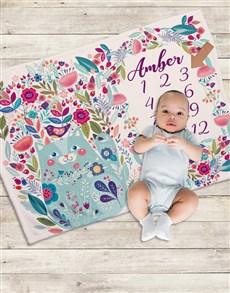 gifts: Personalised Garden Milestone Blanket!
