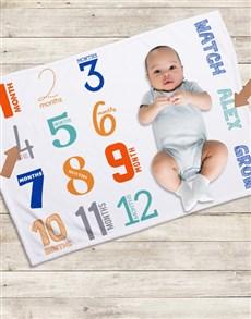 gifts: Personalised Colourfull Milestone Blanket!