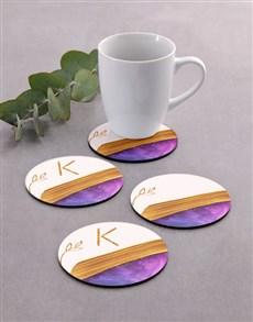 gifts: Personalised Modern Coaster Set!