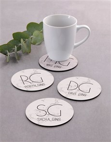 gifts: Personalised Marble Coaster Set!