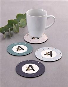 gifts: Personalised Monogram Pattern Coaster Set!