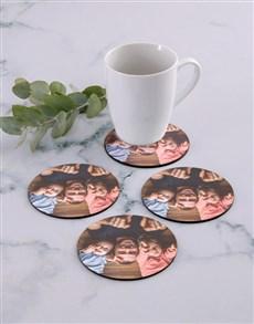 gifts: Personalised Photo Upload Coaster Set!