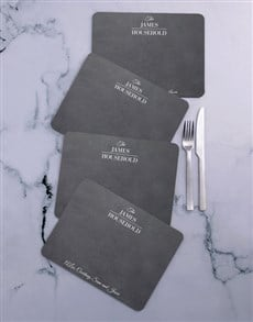 gifts: Personalised Household Placemat Set!