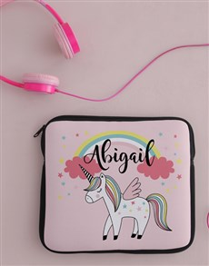 gifts: Personalised Neoprene Unicorn Tablet Cover!