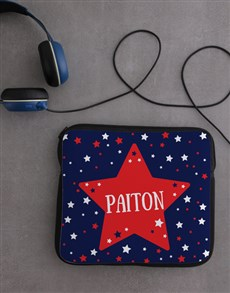 gifts: Personalised Neoprene Stars Tablet Cover!