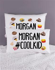gifts: Personalised Emoji Pillow Case Set!