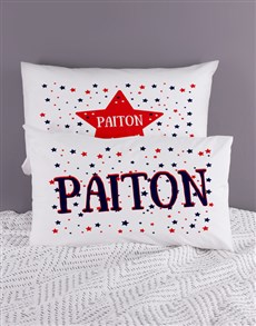 gifts: Personalised Stars Pillow Case Set!