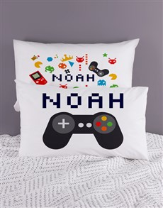 gifts: Personalised Fun and Games Pillow Case Set!