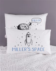 gifts: Personalised Space Pillow Case Set!