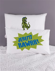 gifts: Personalised Trex Pillow Case Set!