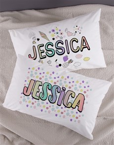 gifts: Personalised Badges Pillow Case Set!