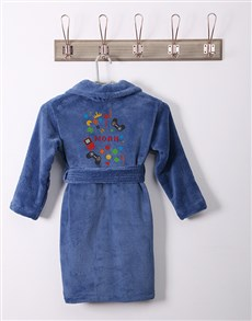 gifts: Personalised Games Blue Fleece Gown!