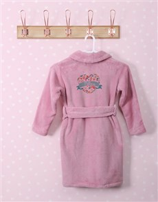 gifts: Personalised Floral Heart Fleece Gown!