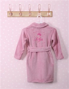 gifts: Personalised Princess Pink Fleece Gown!