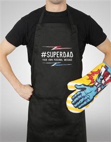 gifts: Personalised Super Dad Apron!