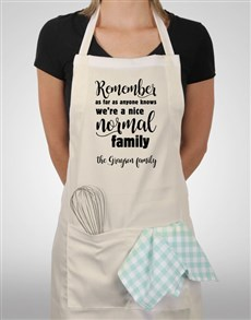 gifts: Personalised Normal Family Apron!