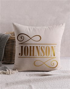 gifts: Personalised Gold Foil Initial Scatter Cushion!