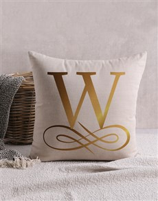 gifts: Personalised Gold Foil Surname Scatter Cushion!