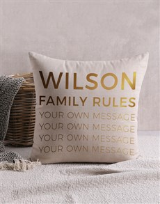 gifts: Personalised Gold Foil Family Scatter Cushion!