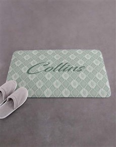 gifts: Personalised Name and Surname Bath Mat!