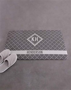gifts: Personalised Name and Surname Diamond Bath Mat!