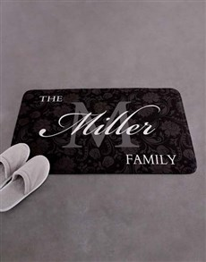 gifts: Personalised Damask Family Name Bath Mat!