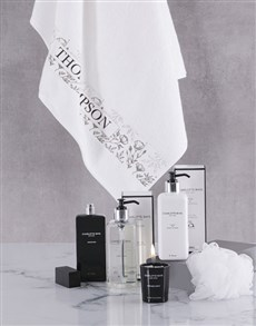 gifts: Personalised Charlotte Rhys Luxury White Bath Gift!