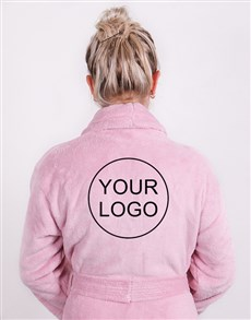 gifts: Personalised Own Logo Vintage Pink Fleece Gown!