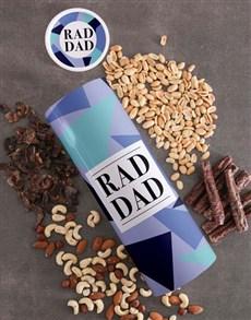 gifts: Personalised Rad Dad Biltong And Nuts Tube!
