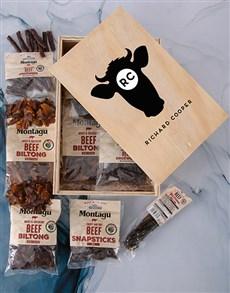 gifts: Personalised Bull Biltong Crate!