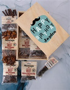 gifts: Personalised Biltong Birthday Crate!