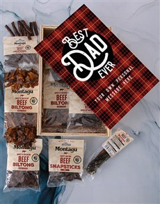 gifts: Personalised Best Dad Biltong Crate!