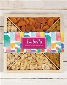 gifts: Personalised Watercolour Fruit And Nut Crate!
