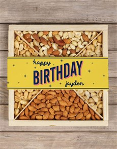 gifts: Personalised Twinkling Birthday Nut Crate!
