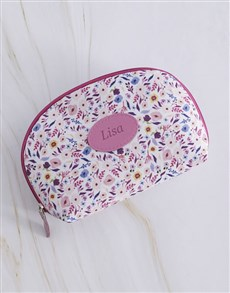 gifts: Personalised Ditsy Floral Cosmetic Bag!