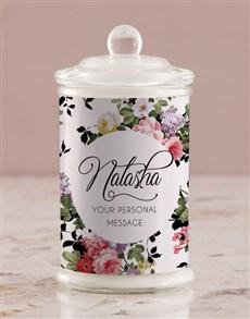 gifts: Personalised Vintage Rose Candle Jar!