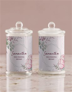 gifts: Personalised Floral Candle Jar!