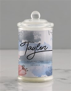 gifts: Personalised Watercolour Candle Jar!