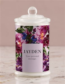 gifts: Personalised Purple Peony Candle Jar!