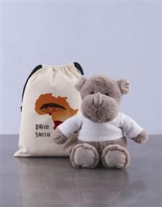 gifts: Personalised Rhino Drawstring Bag!