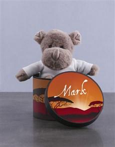 gifts: Personalised Rhino Hat Box!