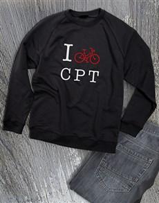 gifts: Personalised Love Cycling Ladies Sweatshirt!