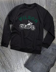 gifts: Personalised Motorcycle Club Sweatshirt!